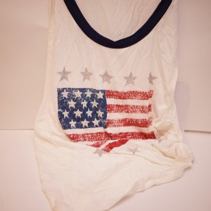 American Flag Tank Worn By Jacklyn